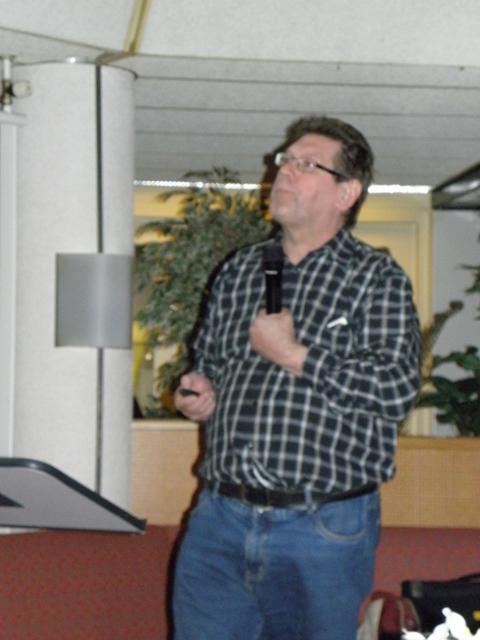 John Graas tijdens zijn presentatie over de ARG (SGLO – @W. Buising)