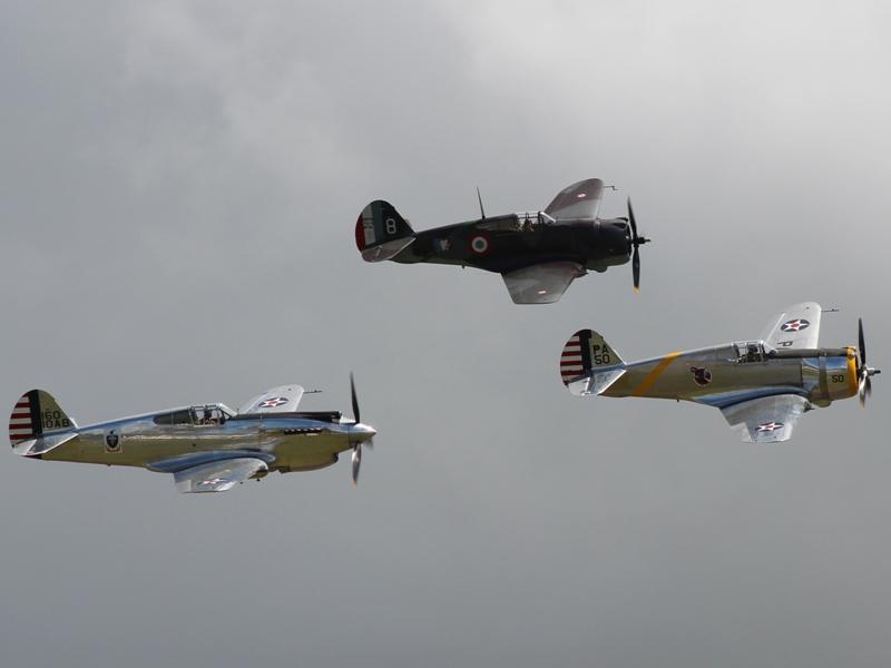 P-40C, Hawk 75 en P-36C (@P. Righart van Gelder)