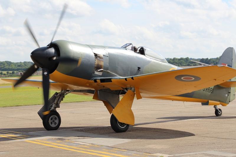 Fury Mk.II SR661 geschilderd als het prototype, ook dit toestel is pas onlangs weer luchtwaardig (@P. Righart van Gelder)