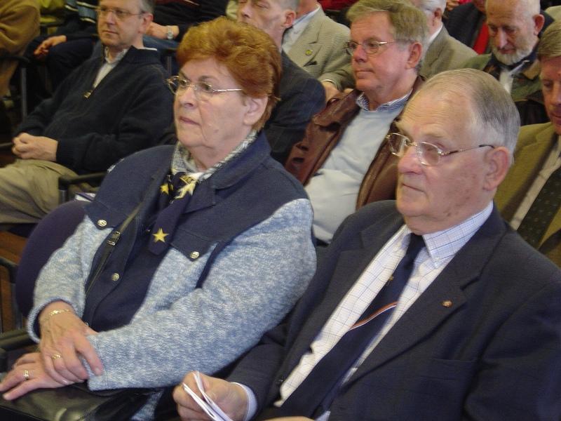 Onze Ere-voorzitter A.P. de Jong met zijn vrouw Nell (SGLO - Archive)