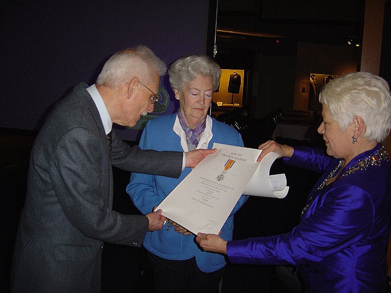 Ab Jansen tijdens zijn benoeming tot Ridder (SGLO – Archive)