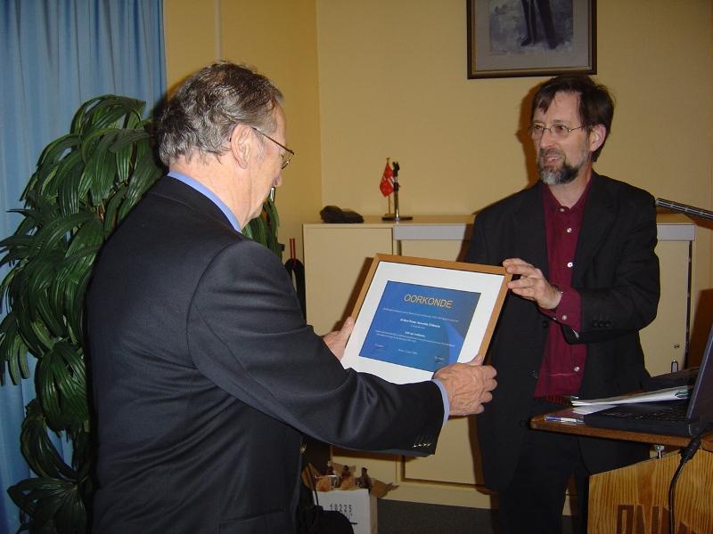 De benoeming van Frans Auwerda tot lid van verdienste (SGLO – Archive)