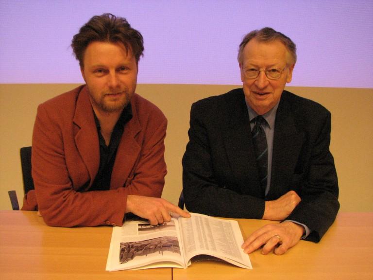 De nieuwe en de oude coordinatoren van het Verliesregister; Bas Maathuis en Frans Auwerda (SGLO – Archive)