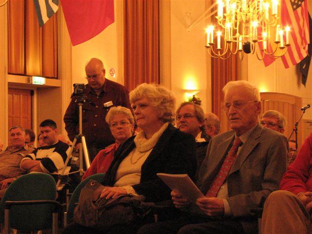 Onze speciale gast Lt. Ernst Eduart Witt rechts vooraan (SGLO – Archive)