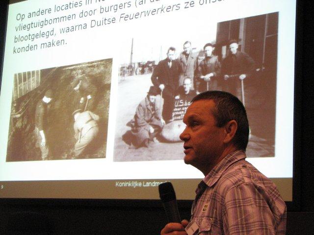 Antoon Meijers tijdens zijn presentatie over de geschiedenis van de EOD (SGLO – Archive)