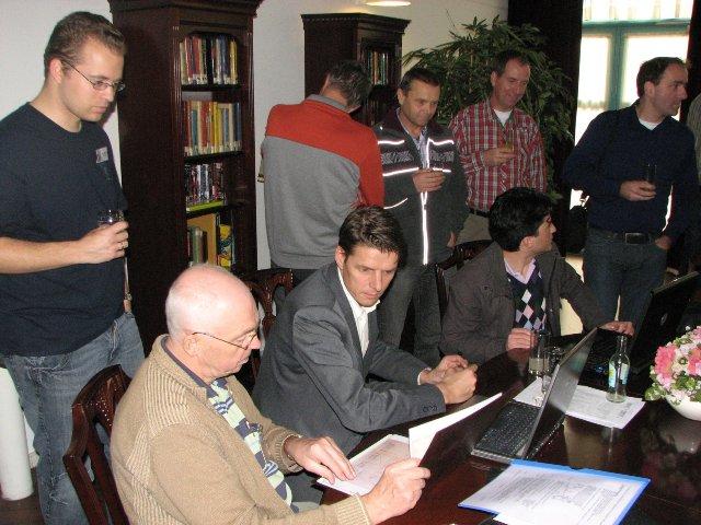 Staand Patrick Righart van Gelder, zittend Jaap Woortman, Hans Nauta en Thierry van den Berg (SGLO – Archive)