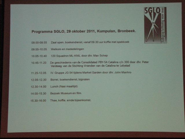 Het programma voor vandaag (SGLO – Archive)