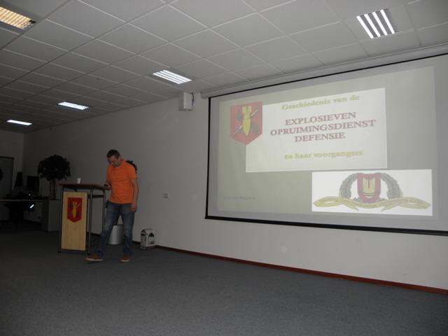 Antoon Meijers tijdens zijn presentatie over de geschiedenis vand e EODD (SGLO – @Wijbe Buising)