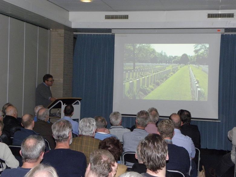 Andreas Wachtel tijdens zijn lezing in november 2016 (SGLO -@Wijbe Buising)