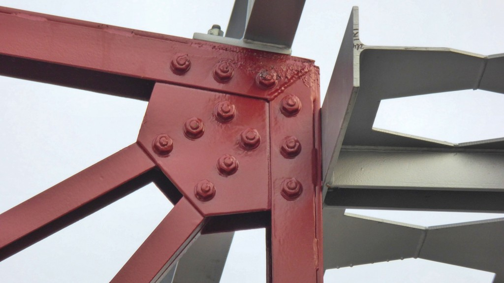 Detail van het raamwerk (Foto: Paul van den Berg)