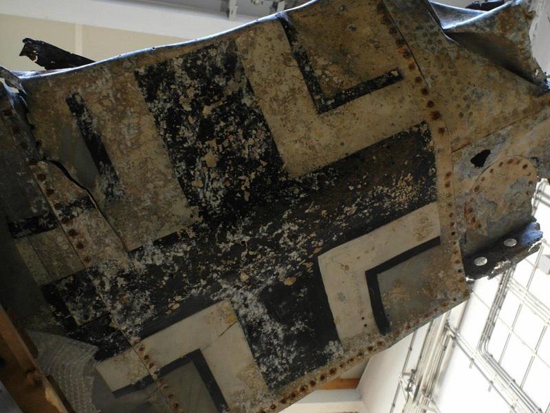 Na jaren in de klei is het Balkenkreuz nog duidelijk zichtbaar (@Pieter Plomp)