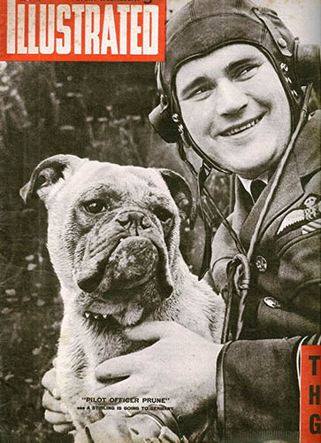 F/Lt.Ron Barr DFC & Bar en Engelse bulldog F/Lt.William Prune (Magazine cover: Roger Leivers)