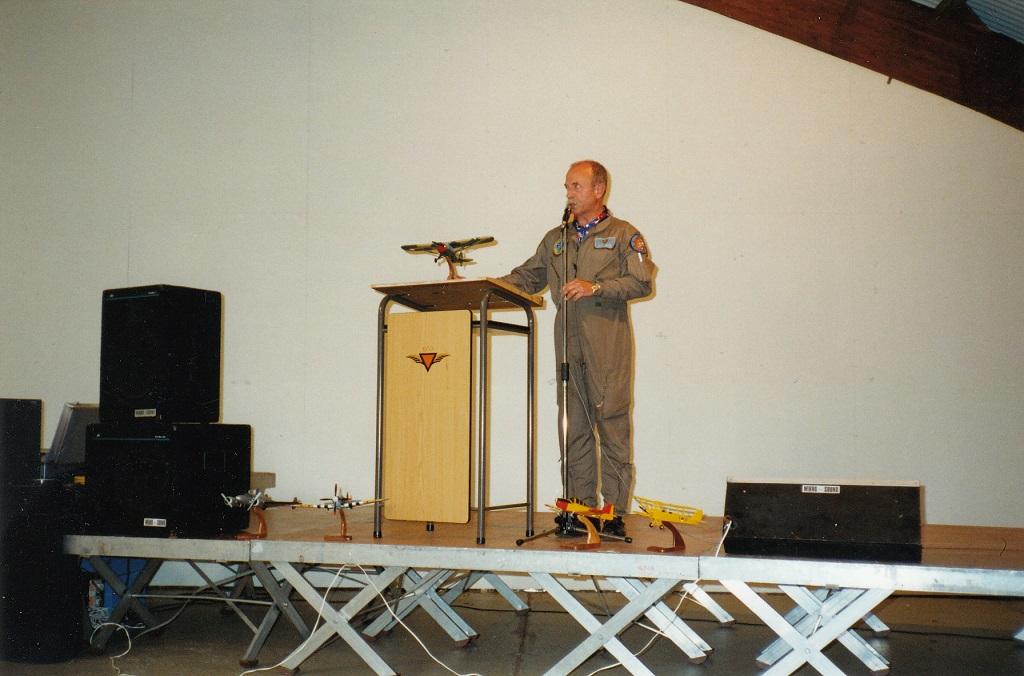 Generaal Majoor b.d. Berry Macco van de Koninklijke Historische Vlucht (Foto: P.M. de Jong via Jaap Woortman)