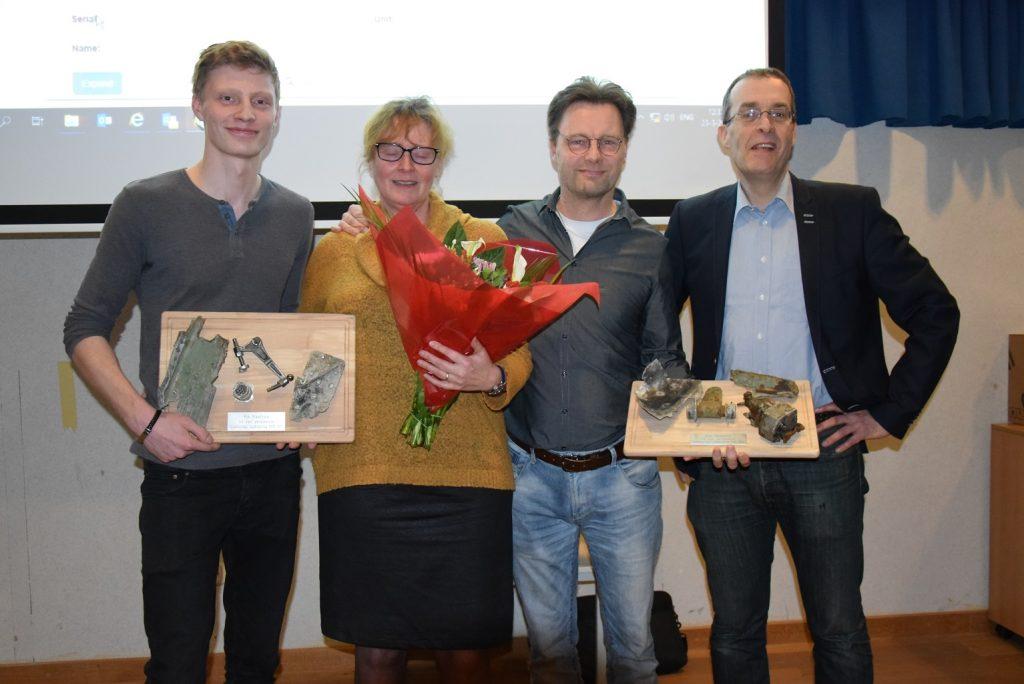 De familie Maathuis werd in het zonnetje gezet door onze voorzitter Ivo de Jong (@Huub van Sabben - Studiegroep Luchtoorlog 1939-1945)