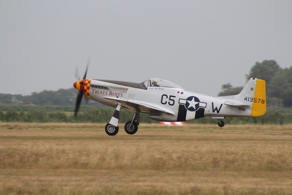 P-51D 44-13578 Trusty Rusty in de take-off (@P. Righart van Gelder - SGLO)